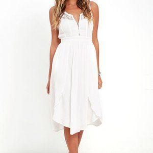 NWT Amuse Society Kinley White Lace Midi Dress